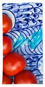 Cherry Tomatoes Beach Towel