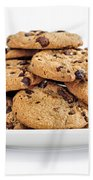 Chocolate Chip Cookies Beach Towel by Elena Elisseeva