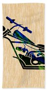 Chopper Motorcycle Beach Towel