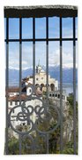 Church Madonna Del Sasso Beach Towel