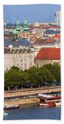City Of Budapest In Hungary Beach Towel