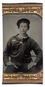Civil War Sailor, C1863 Beach Towel