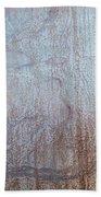 Close-up Of A Metal Wall Surface Beach Sheet