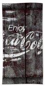 Coca Cola Sign Beach Sheet