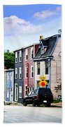 Colorful Houses In St. John's Beach Towel by Elena Elisseeva