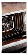 Dodge Challenger Rt Grille Emblem Beach Towel by Jill Reger