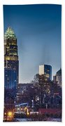 Early Morning In Charlotte Nc Beach Towel