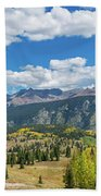 Elevated View Of Trees On Landscape Beach Towel