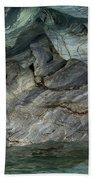 Eroded Marble Shoreline Beach Towel