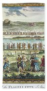 Flagellants Middle Ages Beach Sheet