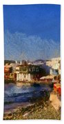 Little Venice In Mykonos Island Beach Towel