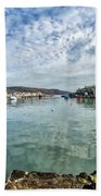 Lyme Regis Harbour Beach Towel