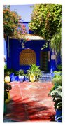 Majorelle Garden Marrakesh Morocco Beach Towel