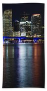 Miami Downtown Skyline Beach Towel