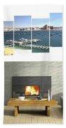 4-panel - Lake Powell Marina Beach Towel