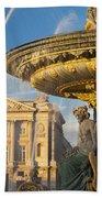 Paris Fountain Beach Towel by Brian Jannsen