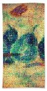 4 Pears Mosaic Beach Towel