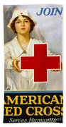 Red Cross Poster, C1917 Beach Towel