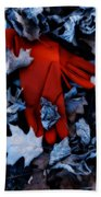 Red Gloves Beach Towel
