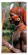 Samburu Warrior Beach Towel
