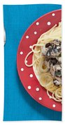 Sardines And Spaghetti Beach Towel