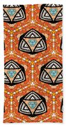Seamlessly Tiled Kaleidoscopic Mosaic Pattern Beach Towel