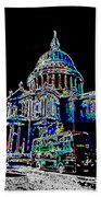 St Pauls Cathedral London Art Beach Towel