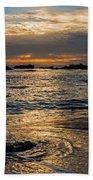 Sunset At Pismo Beach Beach Towel