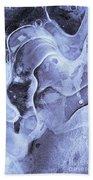 Texture Of Ice Beach Towel