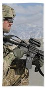 U.s. Army Specialist Provides Security Beach Towel