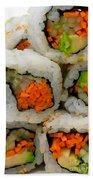 Vegetable Sushi Beach Towel