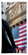 Wall Street Flag Beach Towel