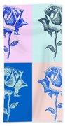 4 Warhol Roses By Punt Beach Towel