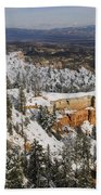 Winter Scene, Bryce Canyon National Park Beach Towel