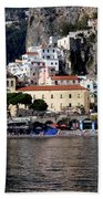 Views From The Amalfi Coast In Italy Beach Sheet