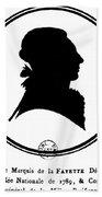 Marquis De Lafayette Beach Towel