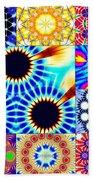 432hz Cymatics Grid Beach Towel