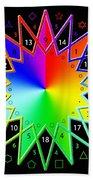 432hz Rainbow Star Beach Towel