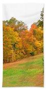 Fall Foliage In New England Beach Towel