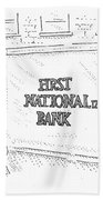 First Nationalized Bank Beach Towel