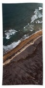 Aerial Photo Beach Towel