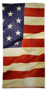 American Flag Beach Towel by Les Cunliffe