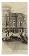 16th Street Baptist Church In Black And White With A White Vingette Beach Towel