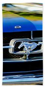 1965 Shelby Prototype Ford Mustang Grille Emblem Beach Towel