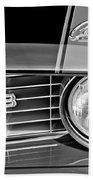 1969 Chevrolet Camaro Z 28 Grille Emblem Beach Towel