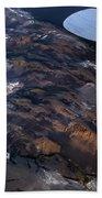 Aerial Photography Beach Towel