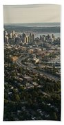 Aerial View Of Seattle Beach Towel