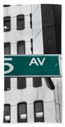 5 Ave. Sign Beach Towel