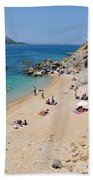 Beach In Legrena Beach Towel