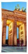Brandenburg Gate Berlin Germany Beach Sheet